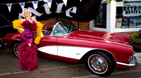 Bournemouth Burlesque Model with classic car